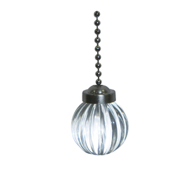 Harbor Breeze 7-in Clear and Pewter Glass Pull Chain