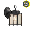 Portfolio 8.25-in H Medium Base (E-26) Black Outdoor Wall Light
