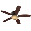 Harbor Breeze Pawtucket 52-in Oil Rubbed Bronze Flush Mount Ceiling Fan with Light Kit and Remote Control