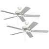 Harbor Breeze 52-in Matte White Downrod or Close Mount Indoor Ceiling Fan ENERGY STAR