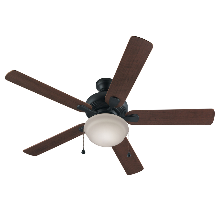 52 ceiling fan with light flush mount : Harbor breeze caratuk river in bronze downrod or