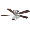 Harbor Breeze Centerville 52-in Brushed Nickel Flush Mount Ceiling Fan with Light Kit