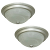 Project Source 2-Pack 13-in W Satin Nickel Ceiling Flush Mount Lights