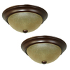 Project Source 2-Pack 13-in W Bronze Ceiling Flush Mount Lights