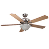 Harbor Breeze Crosswinds 52-in Brushed Nickel Downrod or Flush Mount Indoor Ceiling Fan with Light Kit and Remote
