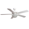 Harbor Breeze 52-in White Downrod or Flush Mount Ceiling Fan with Light Kit and Remote Control