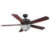 Harbor Breeze 52-in Oil Rubbed Bronze Downrod or Flush Mount Ceiling Fan with Light Kit and Remote