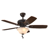 Harbor Breeze Sage Cove 44-in Downrod or Close Mount Indoor Residential Ceiling Fan with Light Kit (5-Blade)