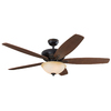 Harbor Breeze Aberly Cove 60-in Bronze Downrod or Close Mount Residential Ceiling Fan with Light Kit and Remote