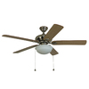 Harbor Breeze Caratuk River 52-in Downrod or Close Mount Indoor Ceiling Fan with Light Kit