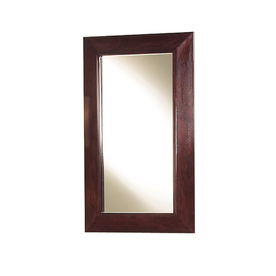 Magick Woods 30-in H x 18-in W Sonata Mahogany Rectangular Bathroom Mirror