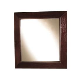 Magick Woods 24-in H x 24-in W Sonata Mahogany Square Bathroom Mirror
