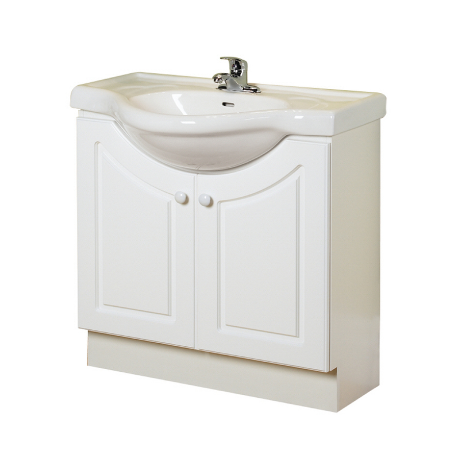 Shop Magick Woods 32 White Eurostone Bath Vanity With Top