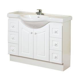 Magickwoods bathroom vanities - In White Eurostone Single Sink Bathroom Vanity With Top At Lowes Com