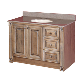 Shop Magick Woods 42 Rustic Glazed Duchess Traditional Bath Vanity At