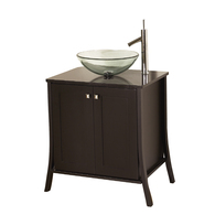 Dark Chocolate Continental Vanity With Top