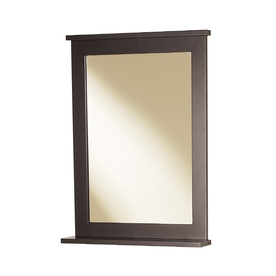 Magick Woods 30-in H x 22-in W Stayton Espresso Rectangular Bathroom Mirror