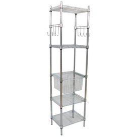 Real Organized 72-in H x 18-in W x 14-in D 5-Tier Steel Freestanding Shelving Unit