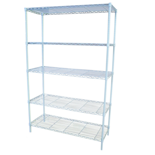 "Zoomed: Style Selections 74""H x  48""W x  18""D Steel Freestanding Shelving Unit"
