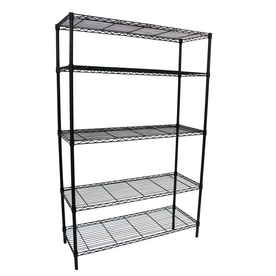 Style Selections 74-in H x 48-in W x 18-in D 5-Tier Steel Freestanding Shelving Unit