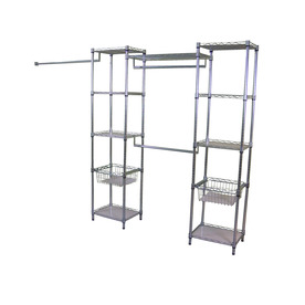 Real Organized Chrome Plated Steel Garment Rack