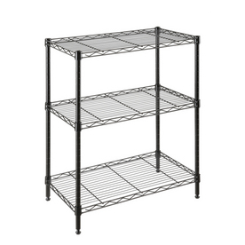 Style Selections 30-in H x 24-in W x 14-in D 3-Tier Steel Freestanding Shelving Unit