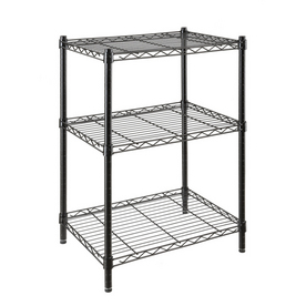 Style Selections 36-in H x 24-in W x 18-in D 3-Tier Steel Freestanding Shelving Unit
