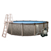 Blue Wave Riviera 18-ft x 18-ft x 54-in Round Above-Ground Pool