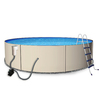 Blue Wave Rugged Steel 12-ft x 12-ft x 48-in Round Above-Ground Pool