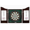 Hathaway Centerpoint 25.5-in Black Composite Dartboard Cabinet with Dartboard