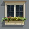 Mayne 10.0-in H x 48.0-in W x 15.0-in D Clay Outdoor Window Box