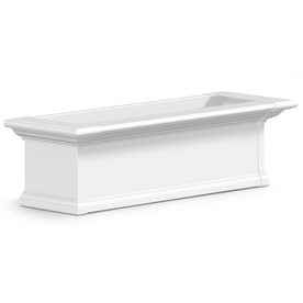 Mayne 10-in H x 12-in W x 36-in D White Window Box