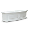 Mayne 36-in x 10-in White Plastic Hanging Self Watering Window Box