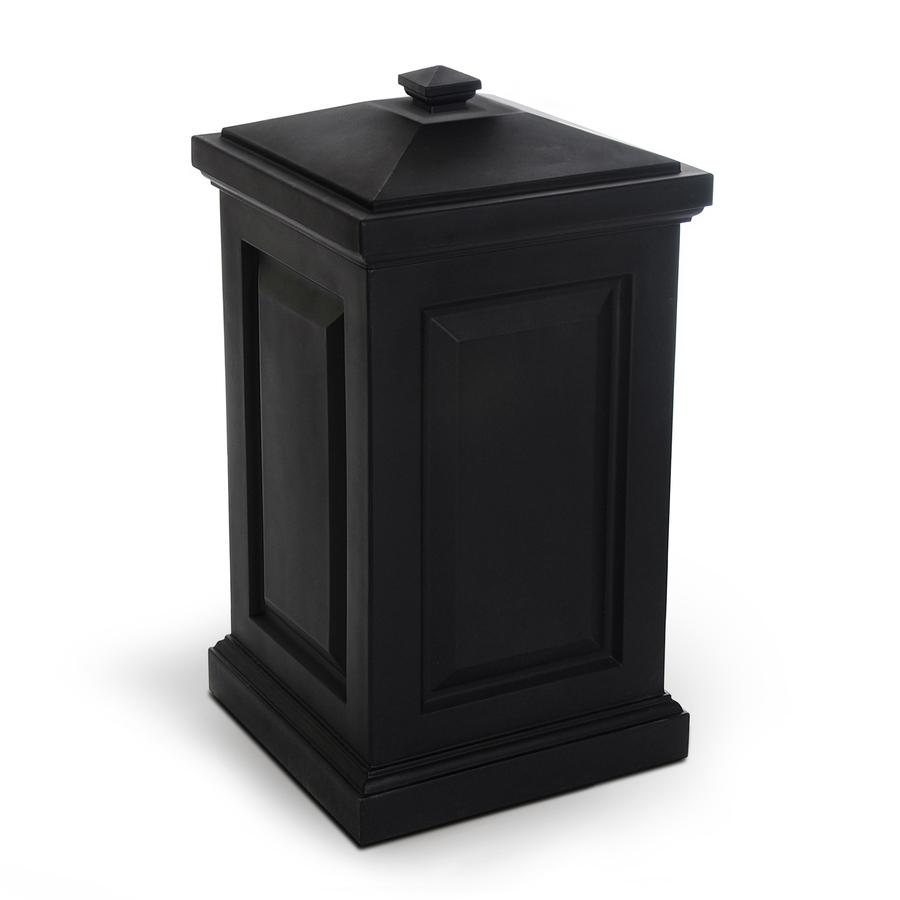 Shop Mayne 45 Gallon Black Outdoor Garbage Can At