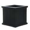 Mayne 14-in H x 14-in W x 14-in D Black Planter