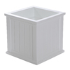 Mayne 20-in H x 20-in W x 20-in D White Planter