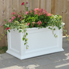 Mayne 20-in x 20-in White Plastic Self Watering Rectangular Planter