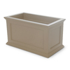 Mayne 20-in H x 20-in W x 36-in D Clay Planter