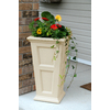Mayne 16-in x 28.5-in Clay Plastic Self Watering Planter