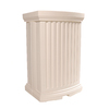 Mayne 40-Gallon White Plastic Rain Barrel
