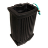 Mayne 40-Gallon Black Plastic Rain Barrel