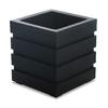 Mayne 18-in x 20-in Black Plastic Self Watering Square Planter