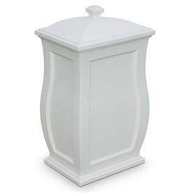 Shop Mayne 22-Gallon White Outdoor Garbage Can at Lowes.com
