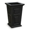 Mayne 24-in H x 15.5-in W x 15.5-in D Black Planter