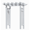 New England Arbors 58-in W x 86-in H White Vinyl Pergola Style Garden Arbor