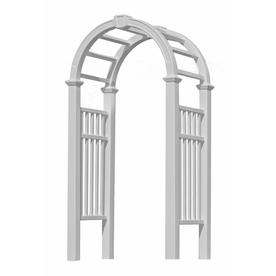 New England Arbors 54-in W x 99.25-in H White Vinyl Arched Garden Arbor