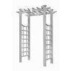 Garden Treasures 60.8-in W x 85.9-in H Semi-Glossy White New England Garden Arbor