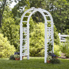 New England Arbors Semi-Glossy White Garden Arbor