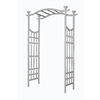 Garden Treasures 53-in W x 83.5-in H Semi-Glossy White New England Garden Arbor