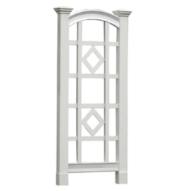 New England Arbors 27-in W x 60-in H White Vinyl Trellis